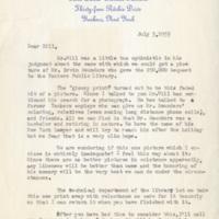 Letter to Mrs. David William Stallard