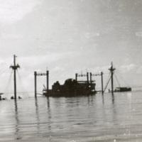Sunken ship off the coast of Corregidor.
