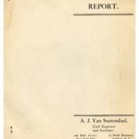Arthur J. Van Suetendael Financial Report